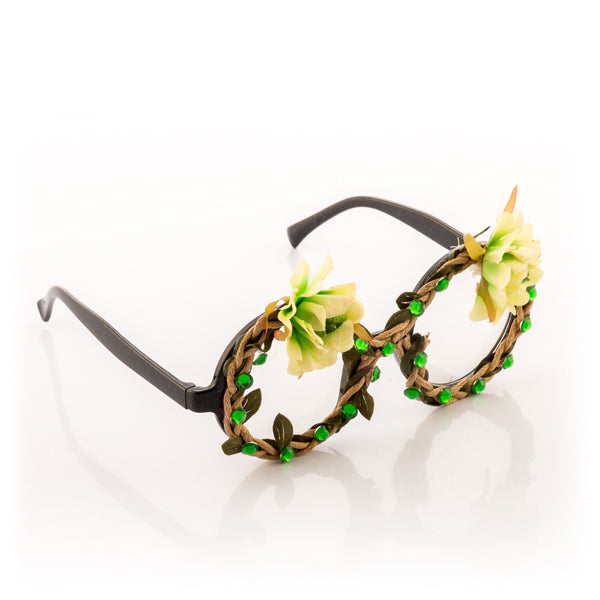 Fashion Party Glasses with Flowers and Diamonds