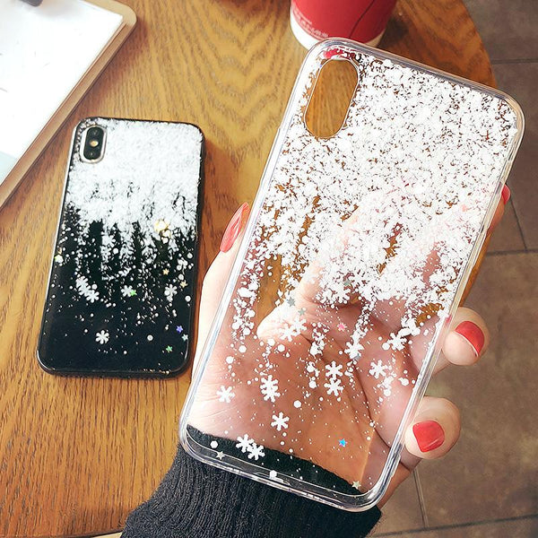 Falling Snowflakes iPhone Case