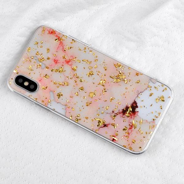 Gold Flecked Marble iPhone Case