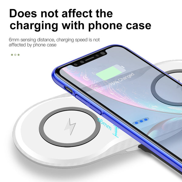 2-in-1 Wireless Charging Station
