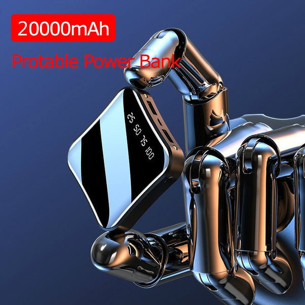 Full Screen Digital Display Mini Powerbank