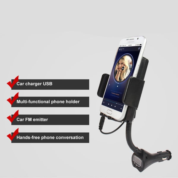 Easewell Universal Mobile Phone USB Car Charger With Mount