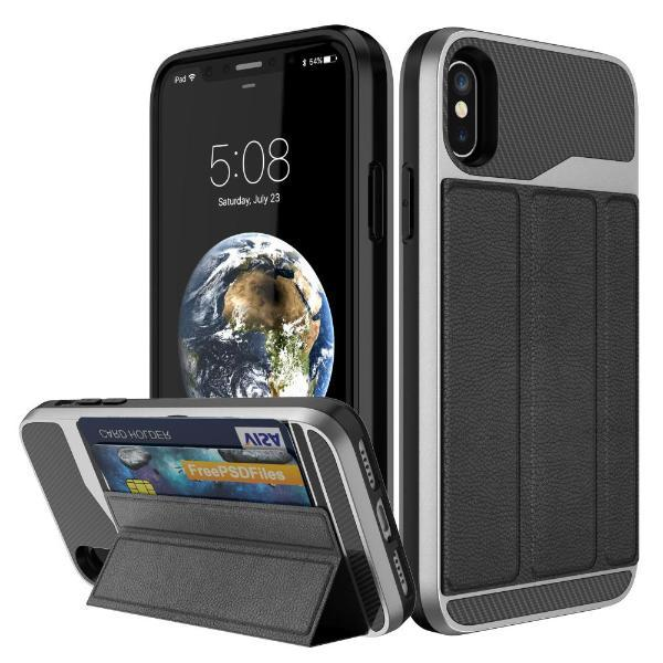 online store dfff3 fee6f Card Holder Phone Case Stand for iPhone X