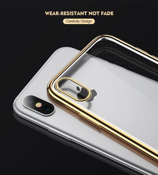 Soft Transparent Back Cover for iPhone X