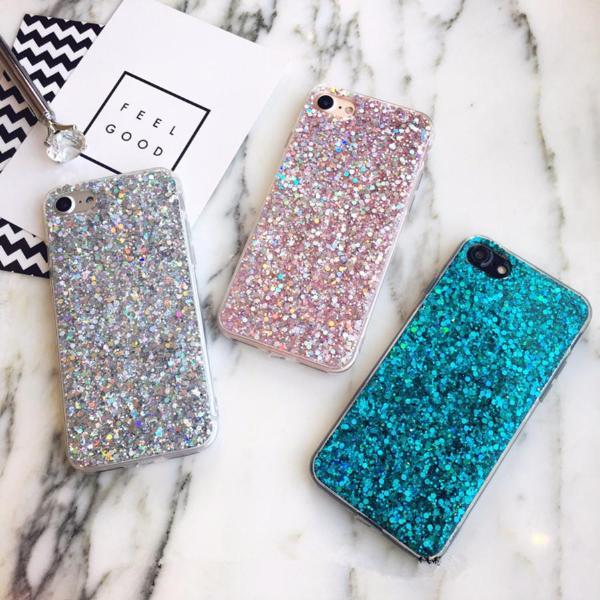 Glittery Crystal Sequins iPhone Case