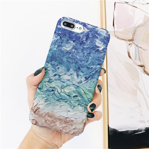 Artistic Matte Paint iPhone Case