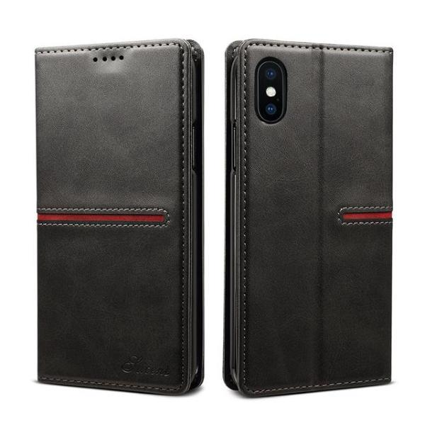 Flip Leather Book iPhone Case