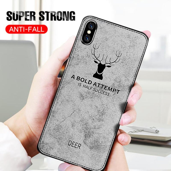 3D Cloth Deer Print Case
