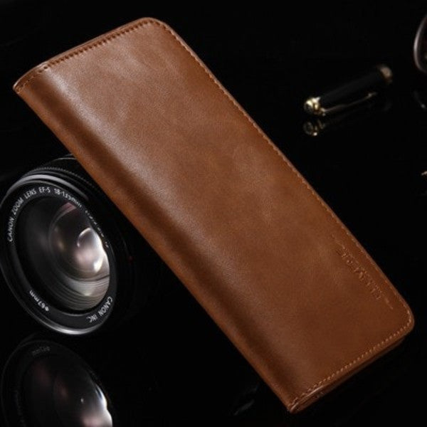 Genuine Leather Magnetic Wallet Phone Case
