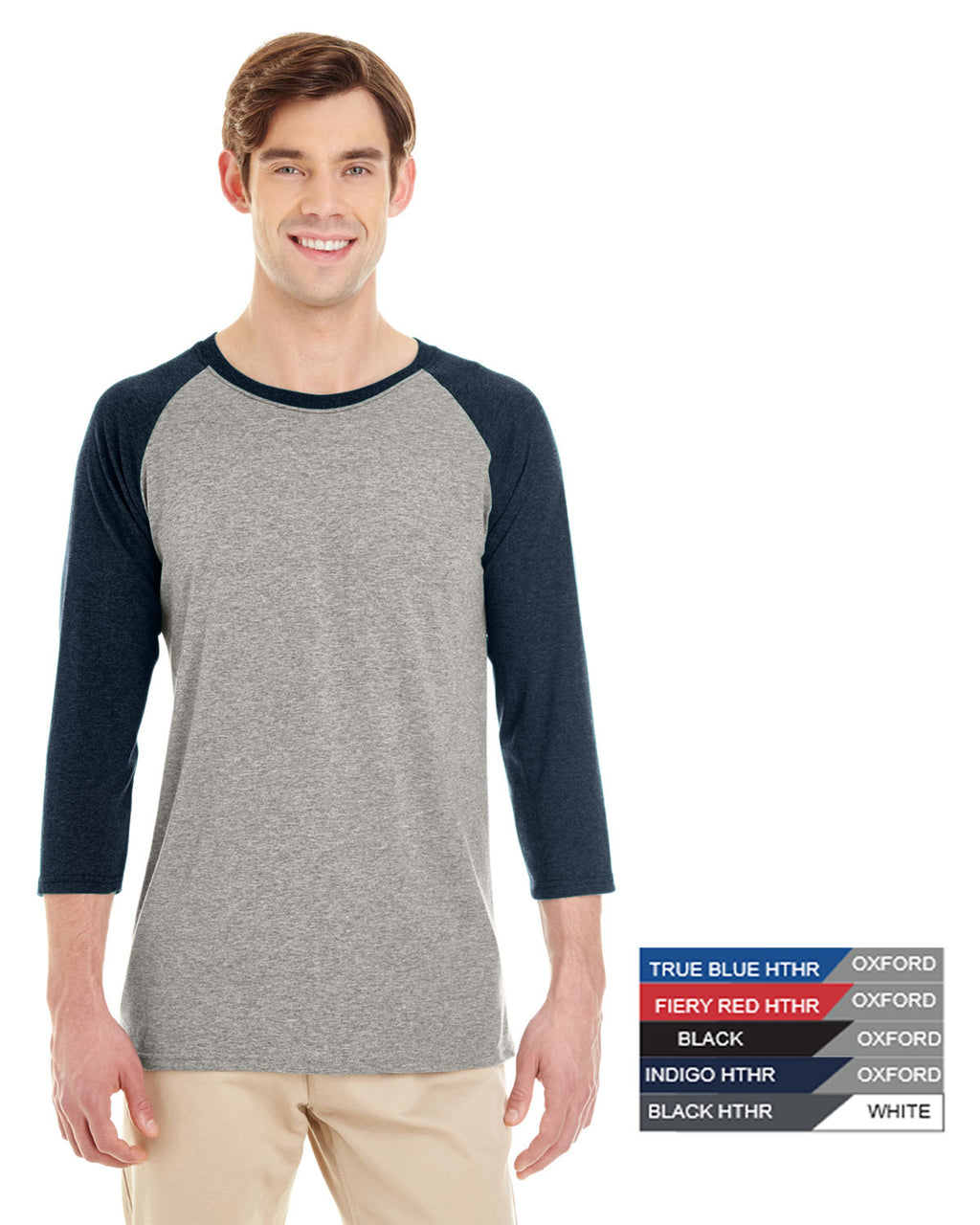 JERZEES® - Triblend Three-Quarter Raglan Baseball T-Shirt