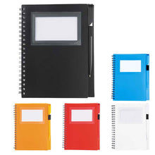 Spiral Notebook w/ Card Slot & Pen