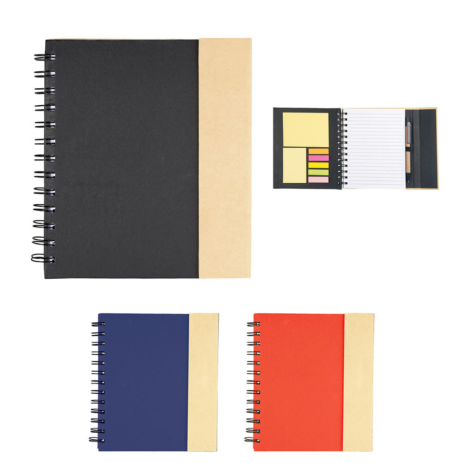 "6.5"" x 7"" Lock-It Spiral Notebook w/ Pen"