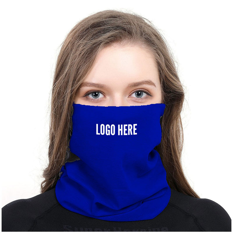 Cooling Neck Gaiter Mask – One Custom Color; White Imprint