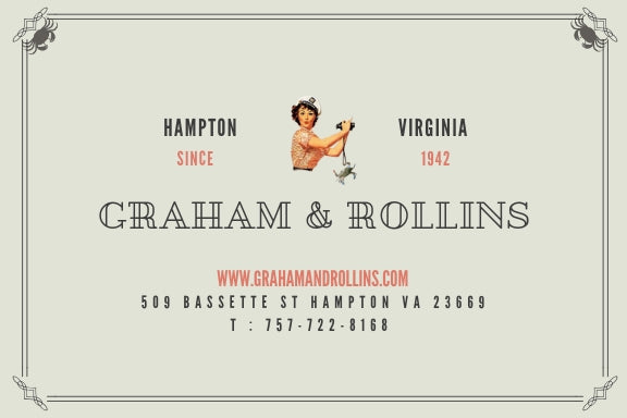 Graham and Rollins seafood gift card