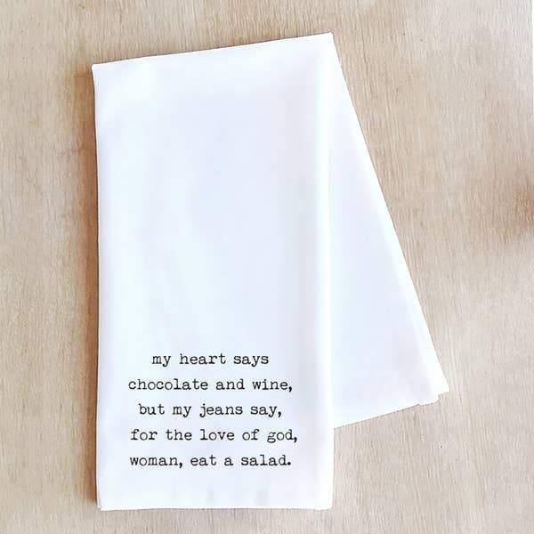 Chocolate and Wine - Tea Towel