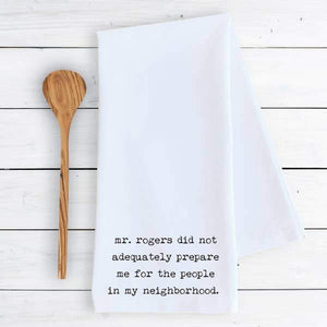 Mr. Rogers - Tea Towel - - - Gifts - Cultured Cloths Apparel