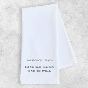 Homeschool Update - Tea Towel - - - Gifts - Cultured Cloths Apparel