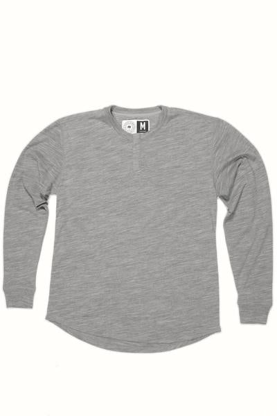 MENS WOOL BASE LAYER HENLEY LUNAR - STRIKE MVMNT NORDIC