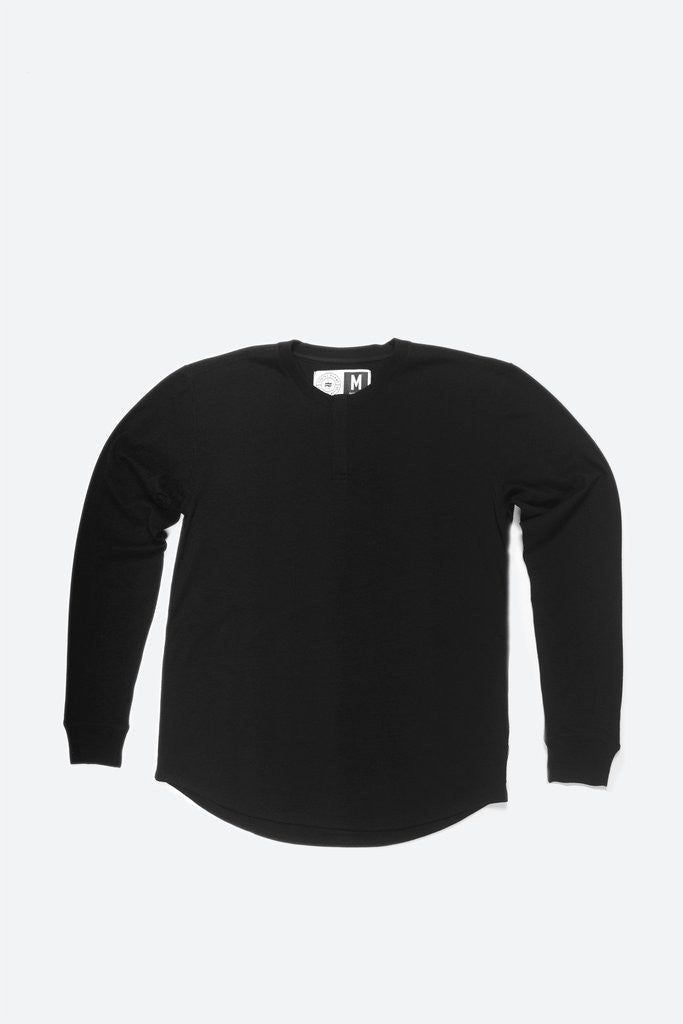 MENS WOOL BASE LAYER HENLEY PHANTOM
