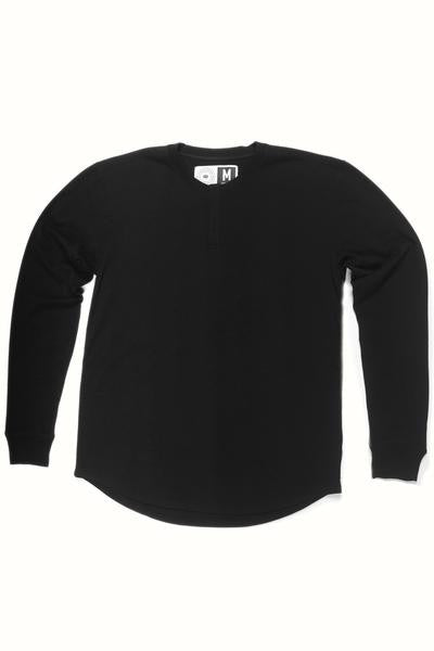 MENS WOOL BASE LAYER HENLEY PHANTOM - STRIKE MVMNT NORDIC