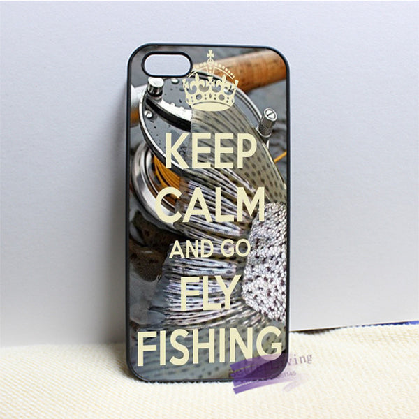 Keep Calm And Go Fly Fishing iPhone Case