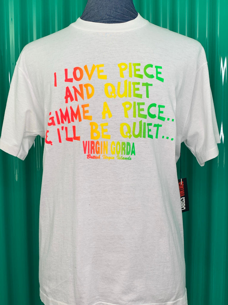 VINTAGE 1980'S PEACE AND QUIET T SHIRT
