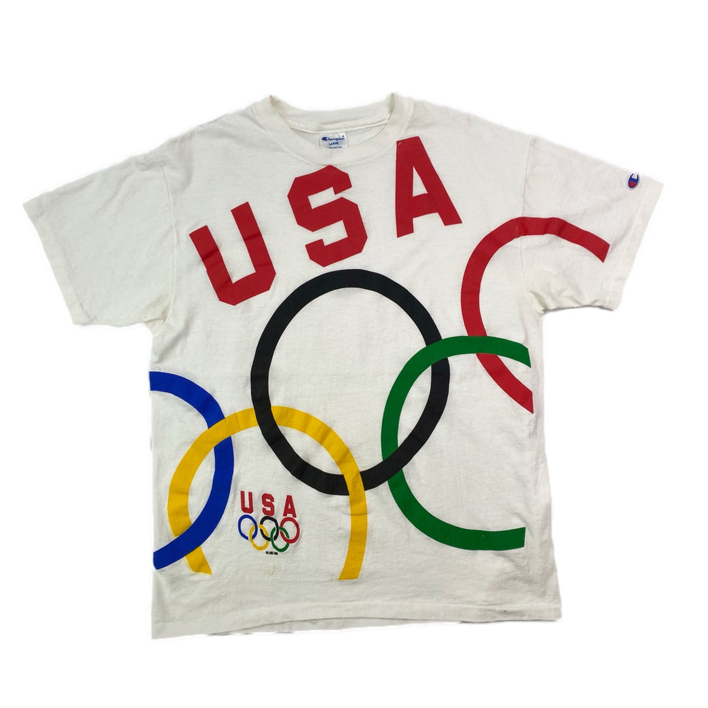 VINTAGE CHAMPION USA OLYMPIC T SHIRT L