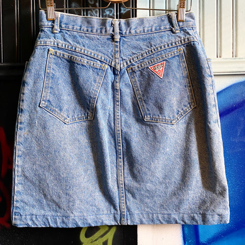 VINTAGE GUESS DENIM HIGH WAIST SKIRT