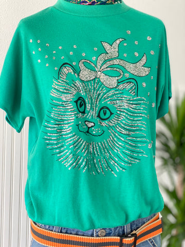 GLITTER KITTY VINTAGE T-SHIRT