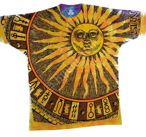 Liquid Blue Sun Moon Tie-Dye T-Shirt