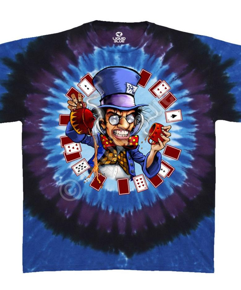 LIQUID BLUE MAD HATTER TIE DYE TEE