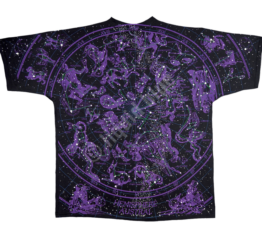 LIQUID BLUE CONSTELLATIONS BLACK T SHIRT XL