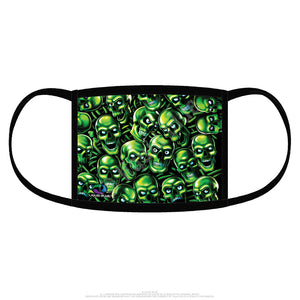 LIQUID BLUE SKULL PILE GREEN FACE COVER