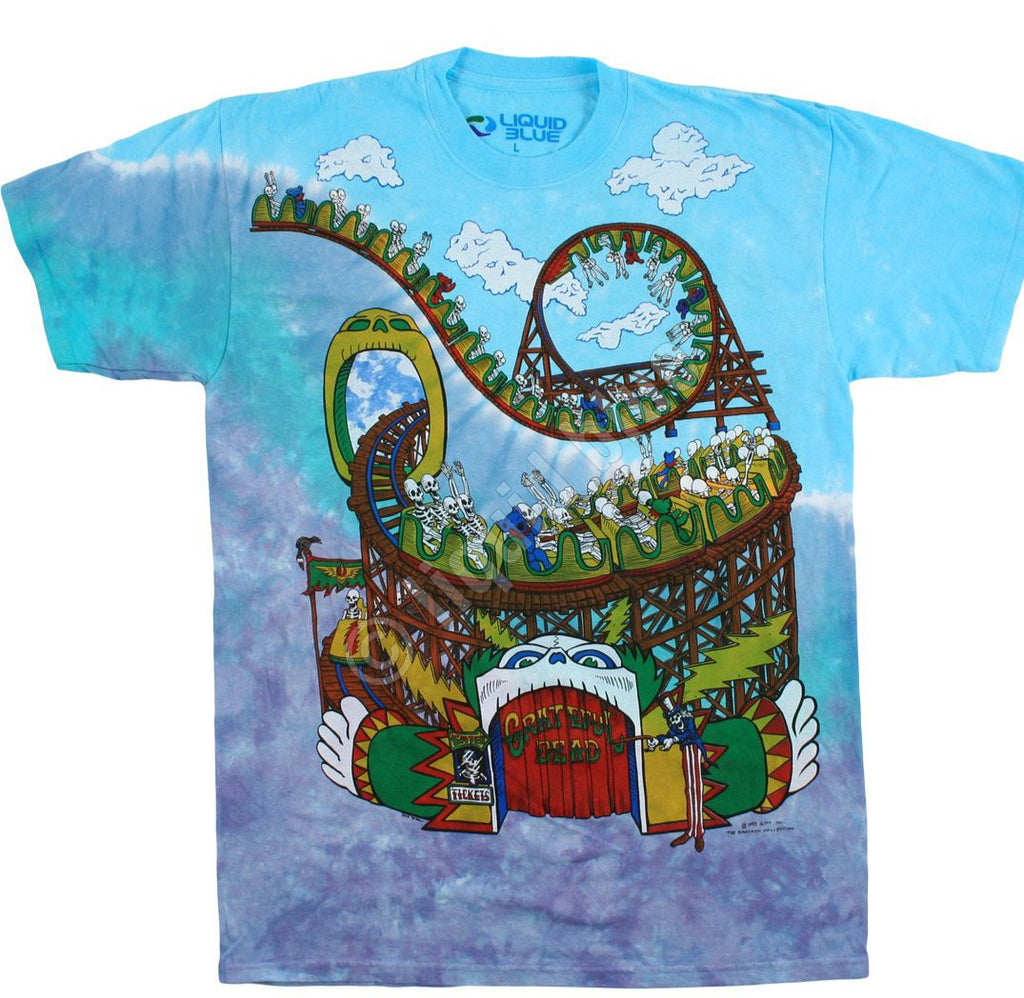 Liquid Blue GRATEFUL DEAD Amusement Park Tie-Dye T-Shirt