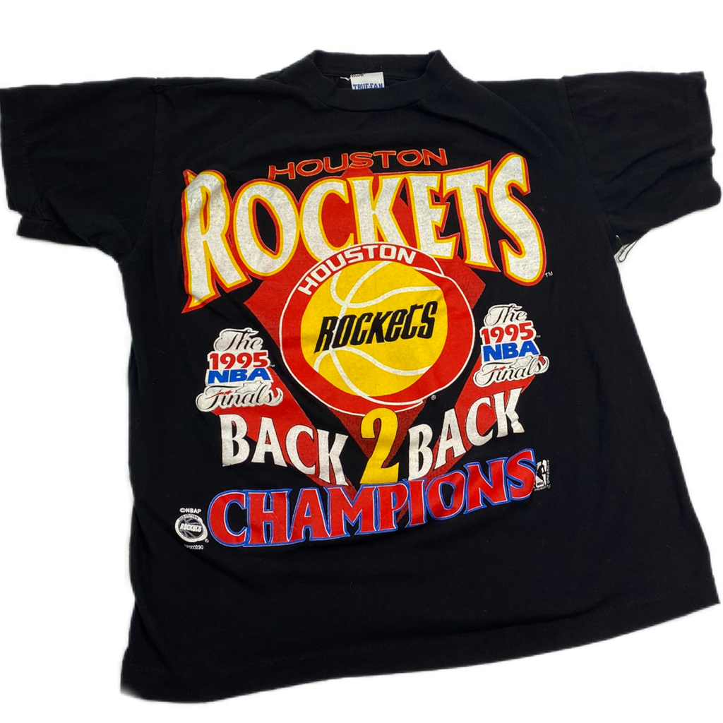 1995 HOUSTON ROCKETS CHAMPIONSHIP BOLD GRAPHIC MED