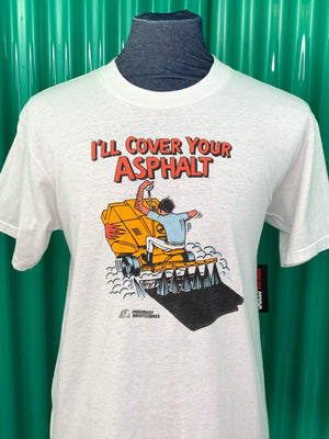 VINTAGE COVER YOUR  ASPHALT T SHIRT