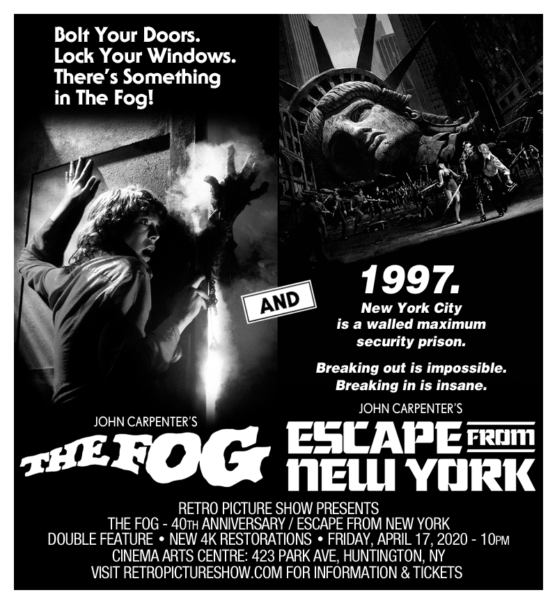 The Fog and Escape from New York (Double Feature)