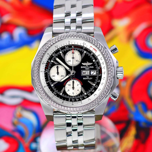 Fs Breitling Bentley Gt Chrono Stainless Silver Dial 45mm: Breitling For Bentley GT Continental Black Dial A13363