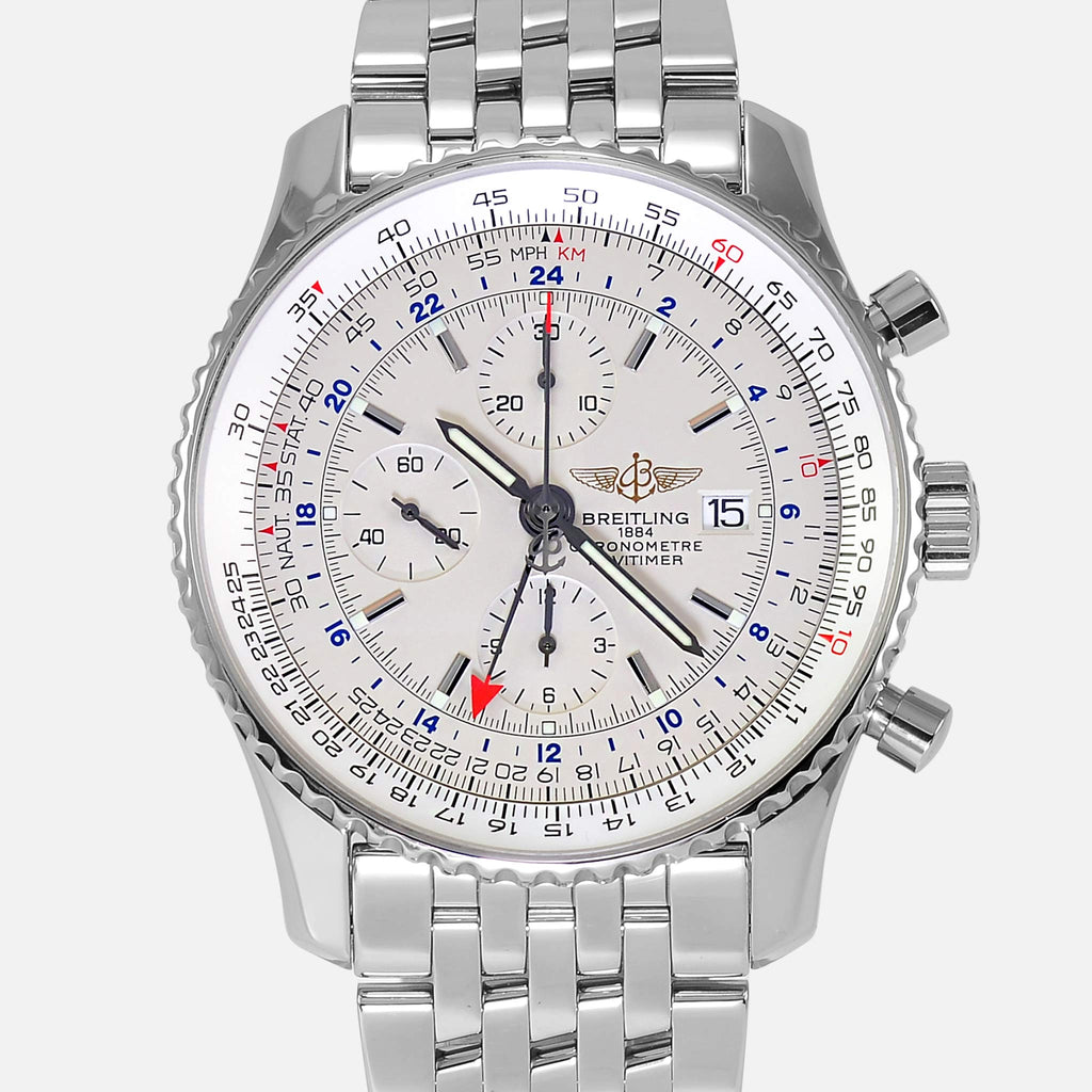 Breitling Navitimer World GMT 2nd Time Zone A24322 Mens Watch - NeoFashionStore