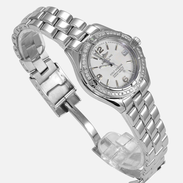 Breitling Colt Oceane Lady Factory Diamond Bezel A77350 - NeoFashionStore