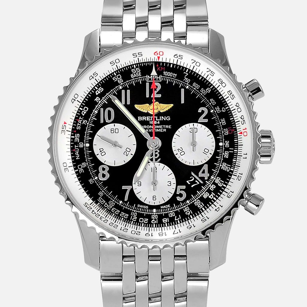 Breitling Navitimer 01 Chronograph AB0120 Black Dial 43mm Watch - NeoFashionStore