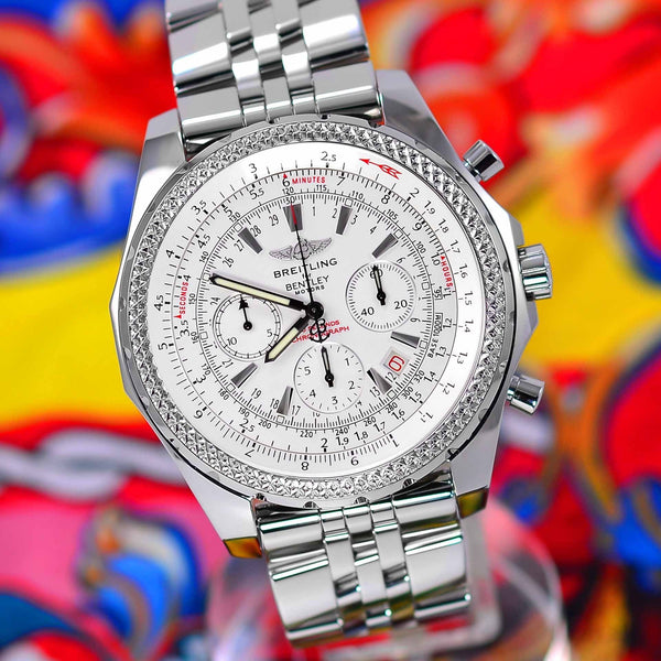 Breitling For Bentley Motors Special Ed. White Dial A25362 - NeoFashion Store