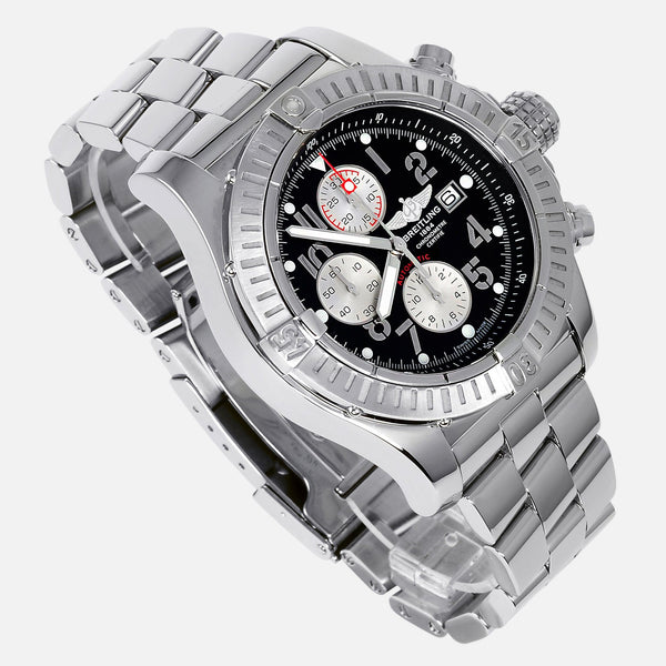 Breitling Super Avenger Chronograph Black Dial A13370 - NeoFashionStore