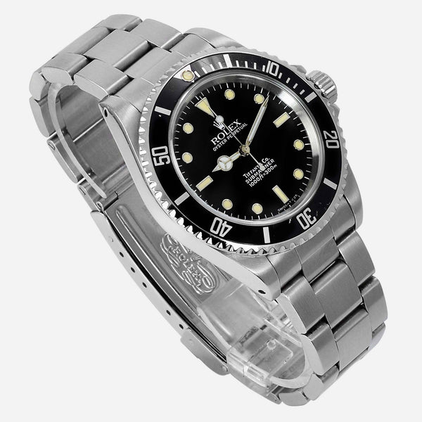 Rolex Oyster Perpetual Submariner 14060 Tiffany Full Set - NeoFashionStore