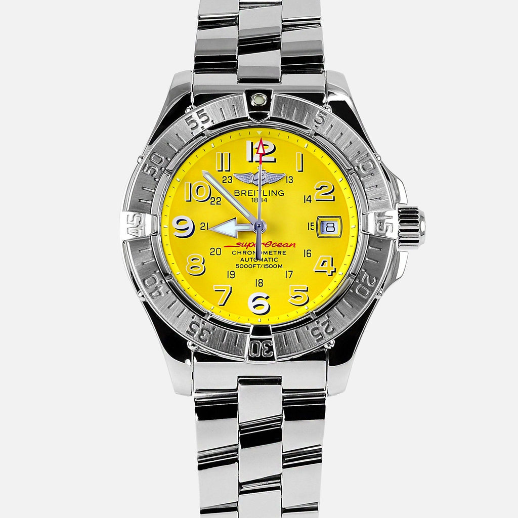 Breitling Superocean Automatic II Yellow Dial A17360 - NeoFashionStore