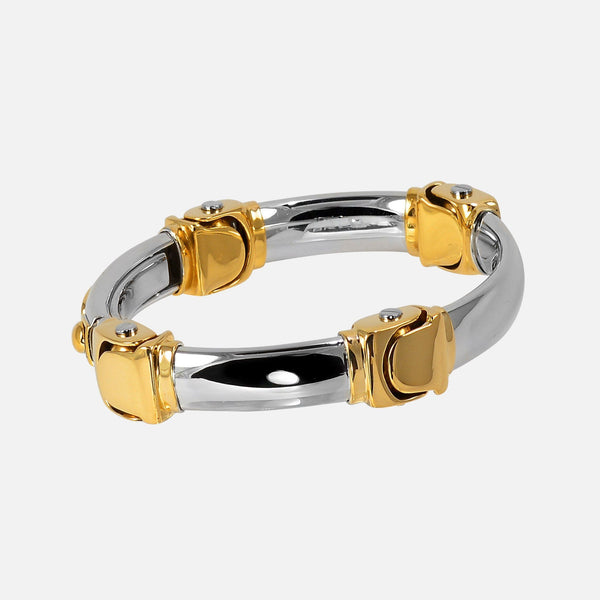 Baraka 18K Gold Two-Tone Cuff Bracelet - NeoFashion Store