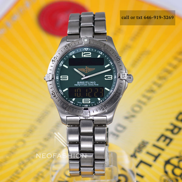 breitling aerospace titanium dark green dial
