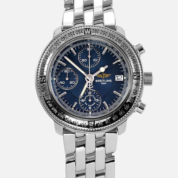 Breitling Astromat Longitude Steel Blue Dial GMT A20405 - NeoFashionStore