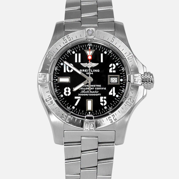 Breitling Avenger Seawolf 45 Black Dial Reference A17330 - NeoFashionStore