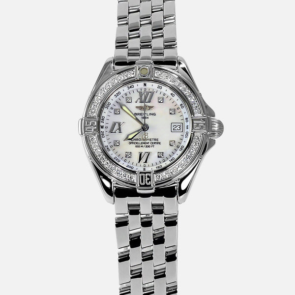 Breitling B-Class Ladies VVS Diamond Bezel A67365